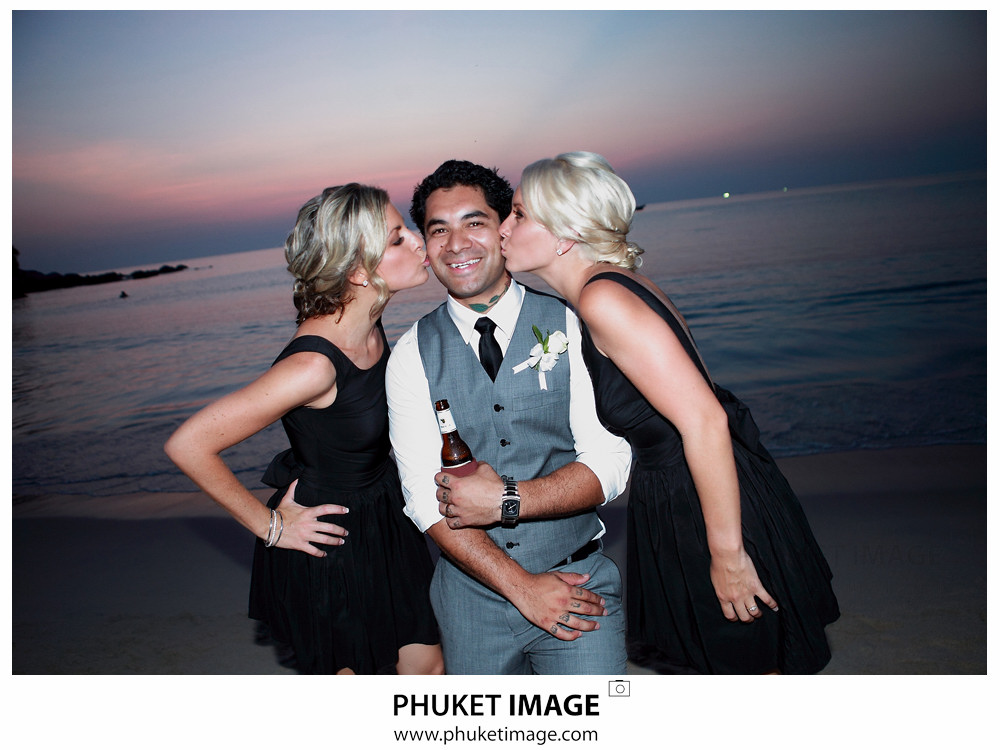 0041 Beach Wedding Photographer in Phuket Paraire  and Melissa : Wedding day at Katathani