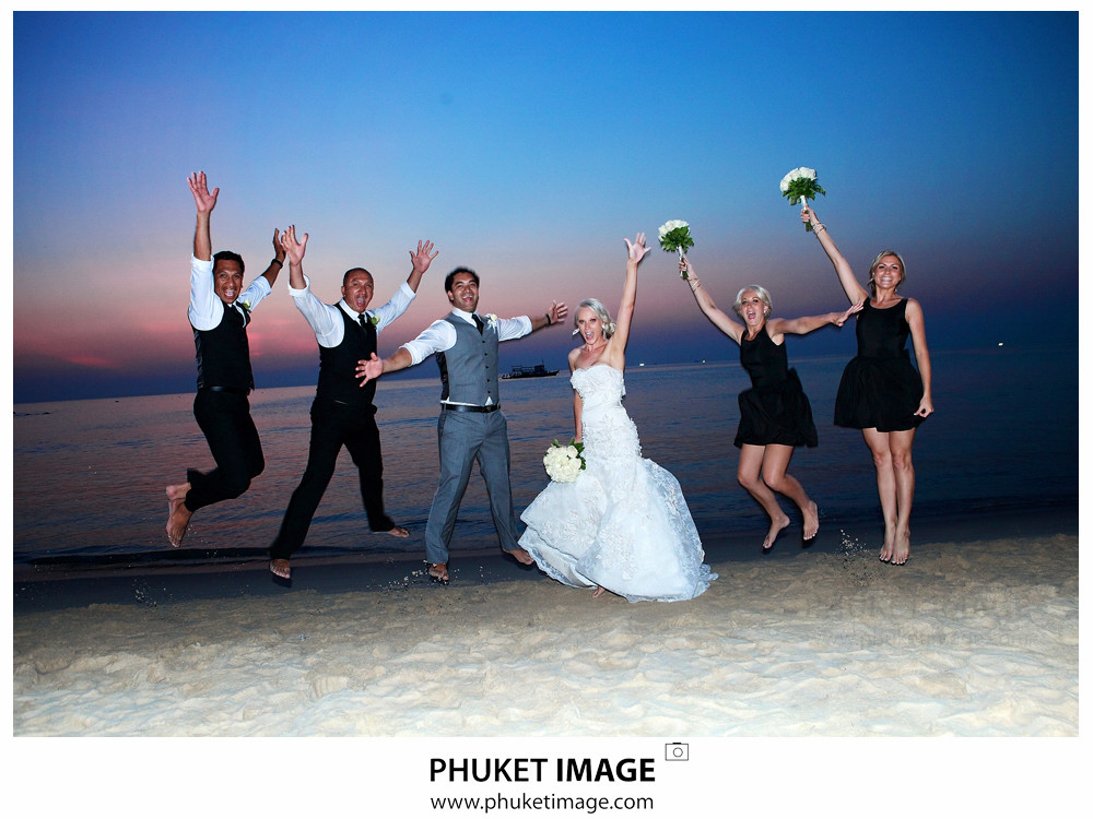 0043 Beach Wedding Photographer in Phuket Paraire  and Melissa : Wedding day at Katathani