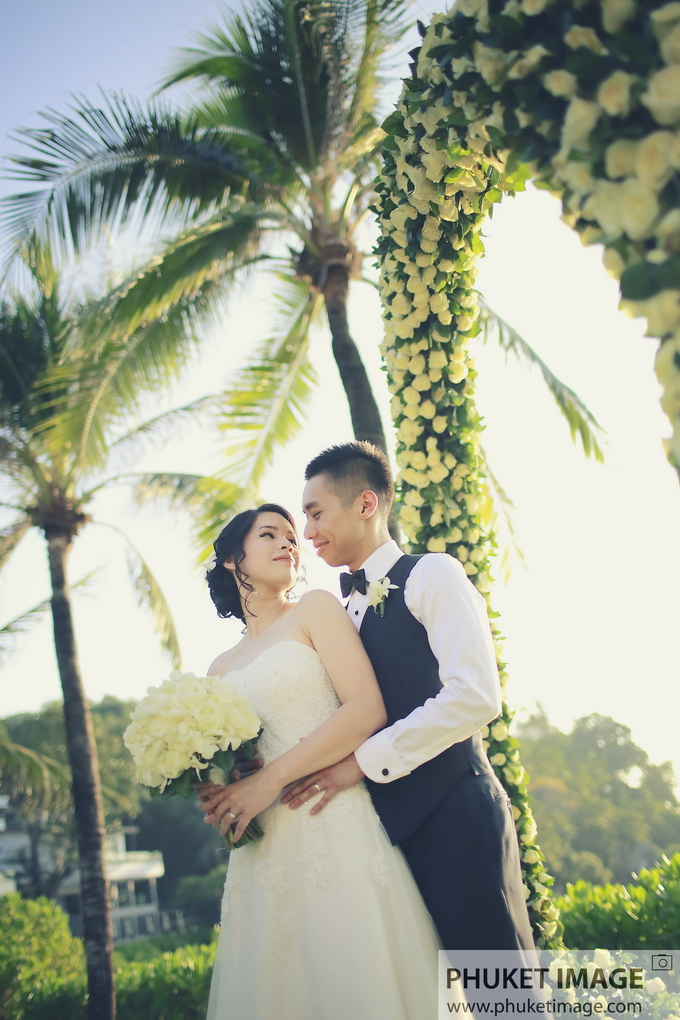 Videographer and photographer for destination beach wedding in Koh Phuket